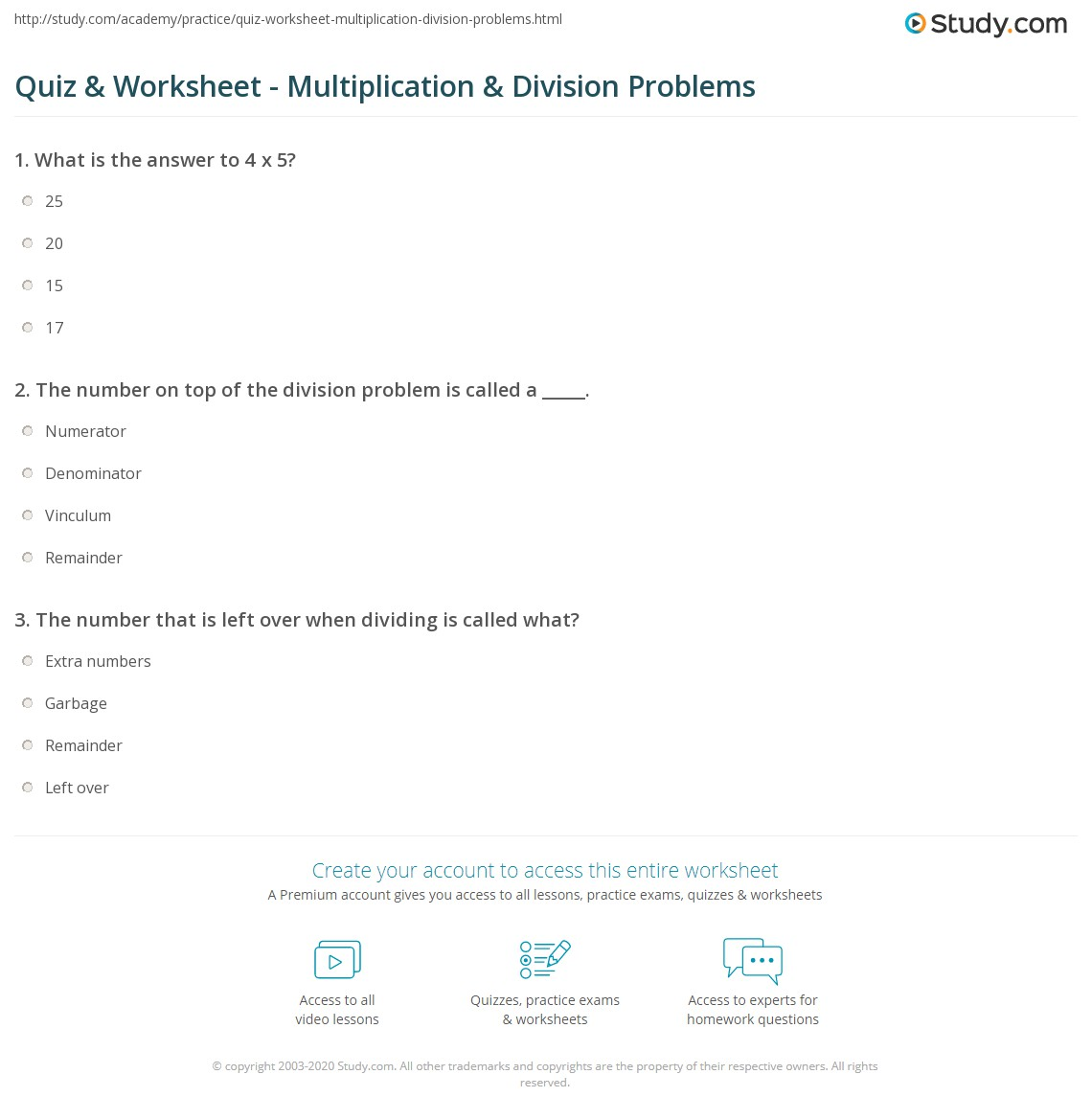 Print Solving Problems With Multiplication U0026 Division Worksheet