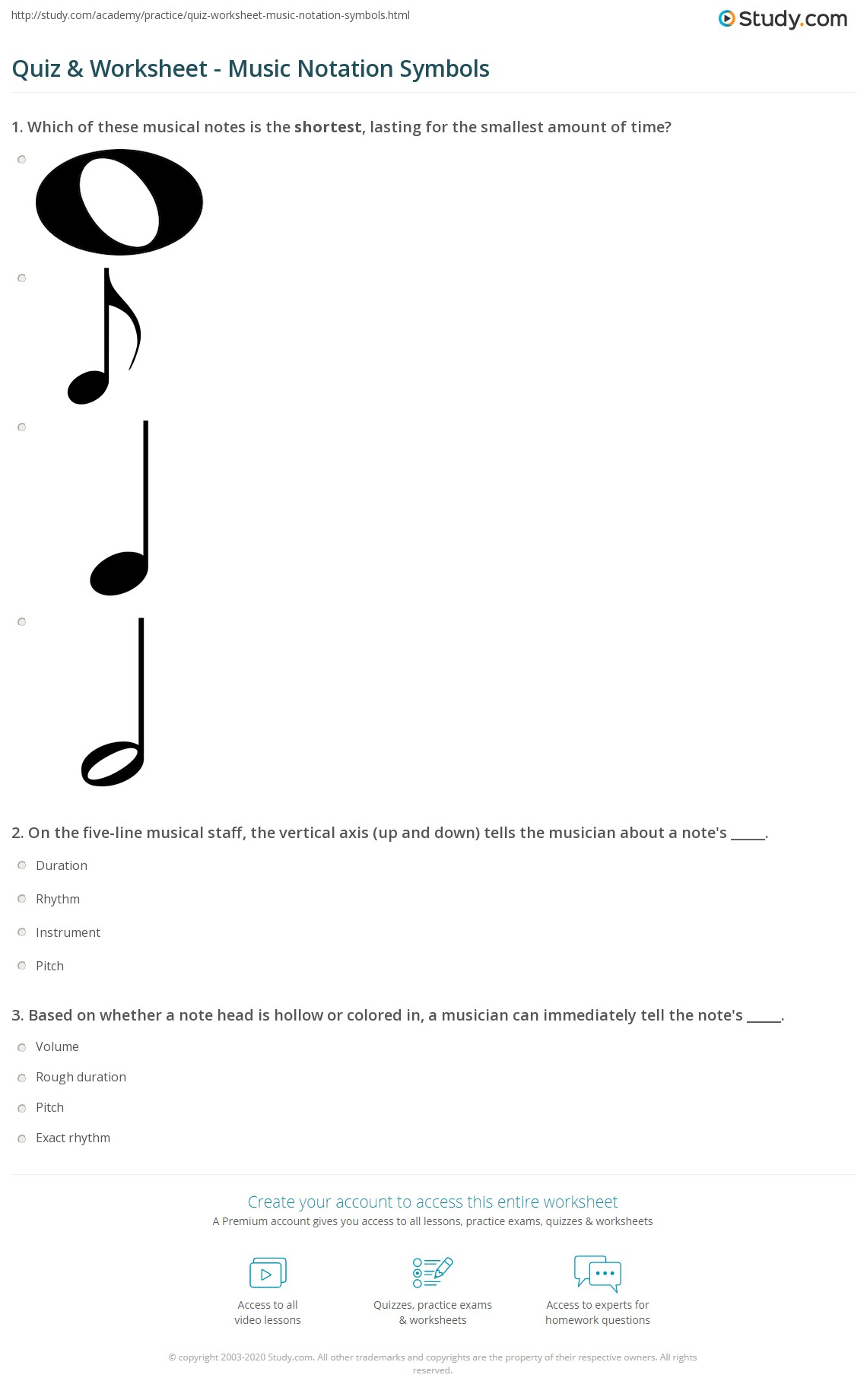 Quiz worksheet music notation symbols study print musical notation symbols note head stem flag worksheet biocorpaavc