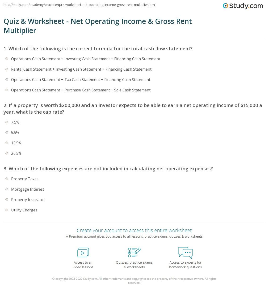 net worth statement worksheet