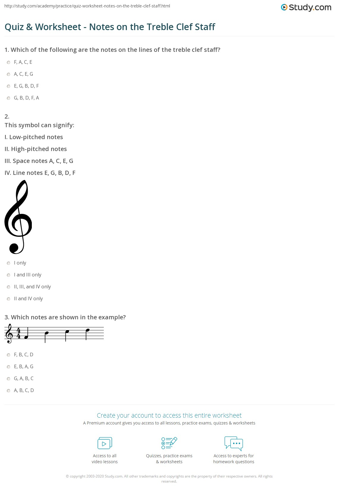 Uncategorized Treble Clef Worksheets quiz worksheet notes on the treble clef staff study com print how to read worksheet