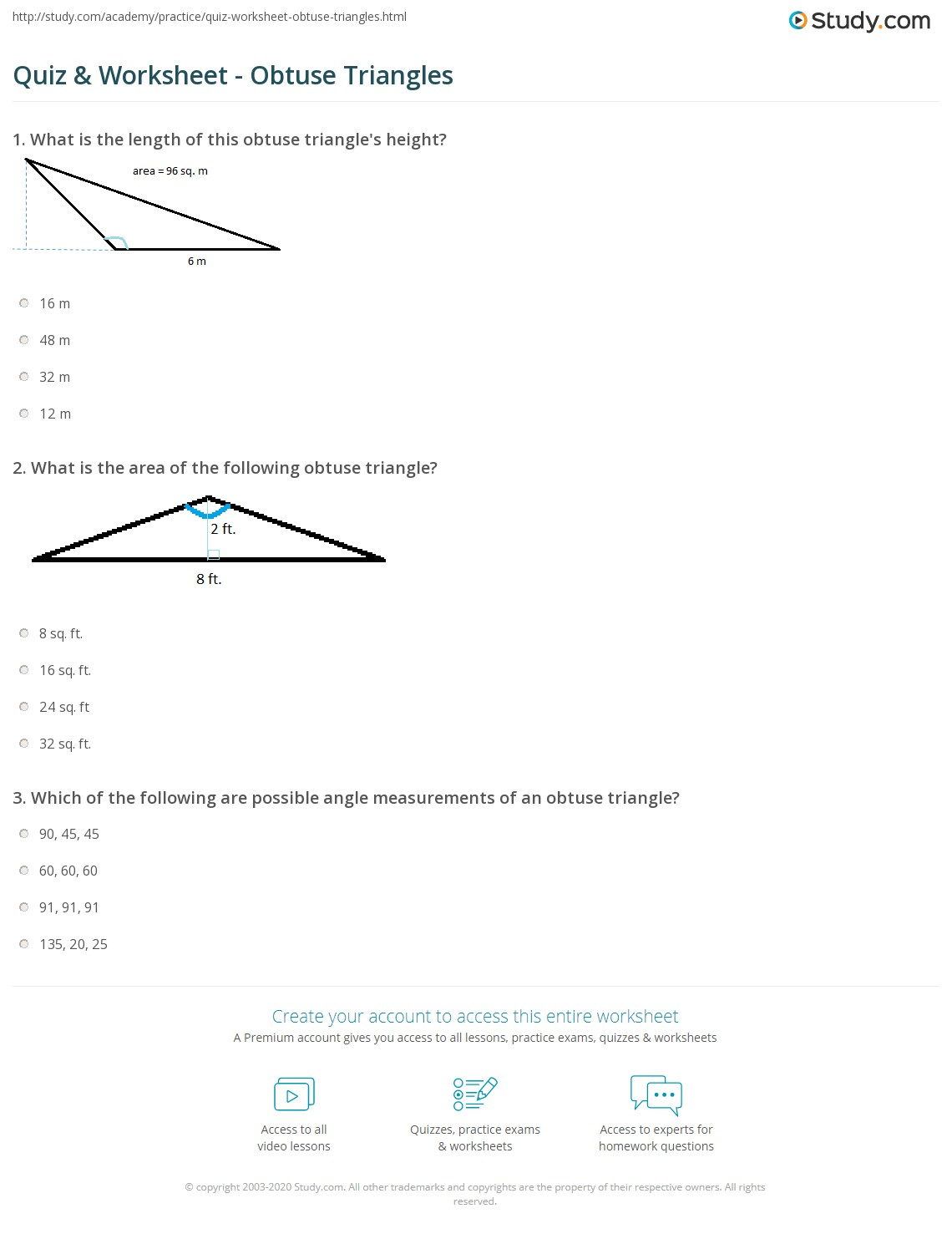 worksheet 30 60 90 Triangle Worksheet quiz worksheet obtuse triangles study com print what is an triangle definition area formula worksheet