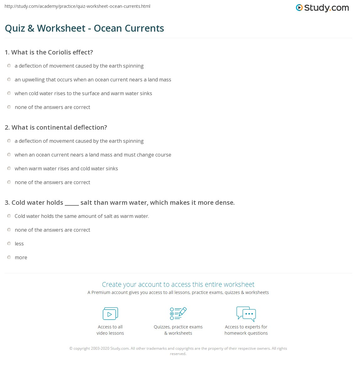 worksheet Ocean Currents Worksheet quiz worksheet ocean currents study com print what are definition types worksheet