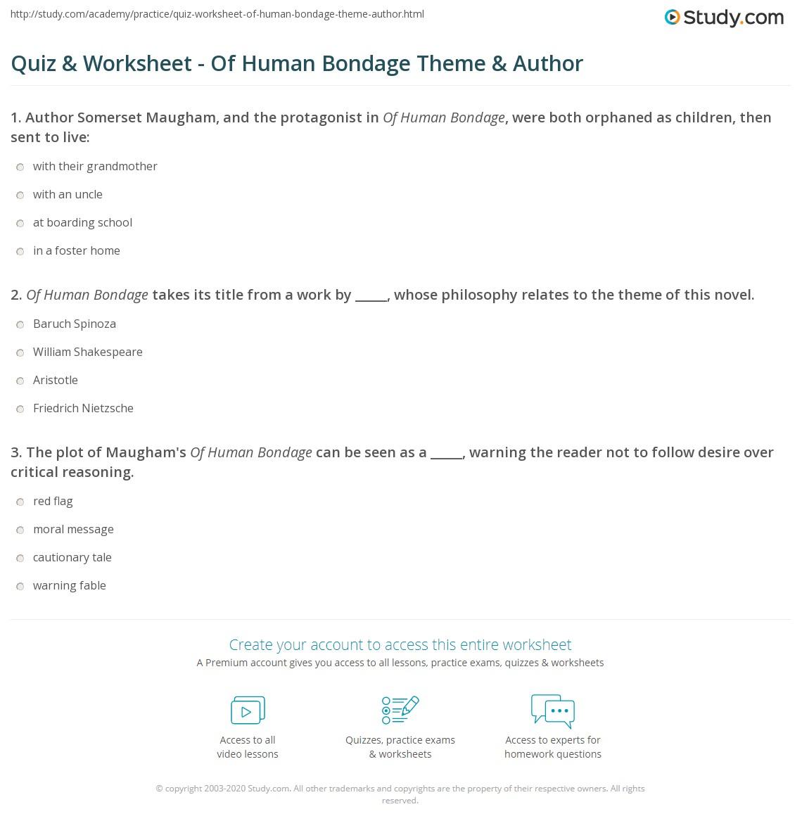 human bondage themes Of
