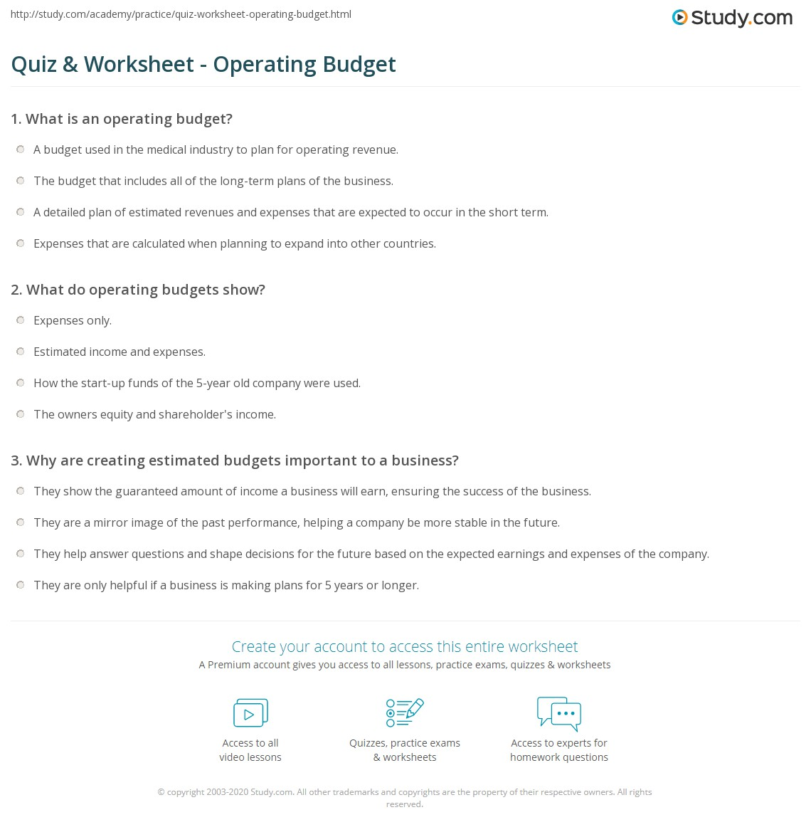 print what is operating budget definition examples worksheet