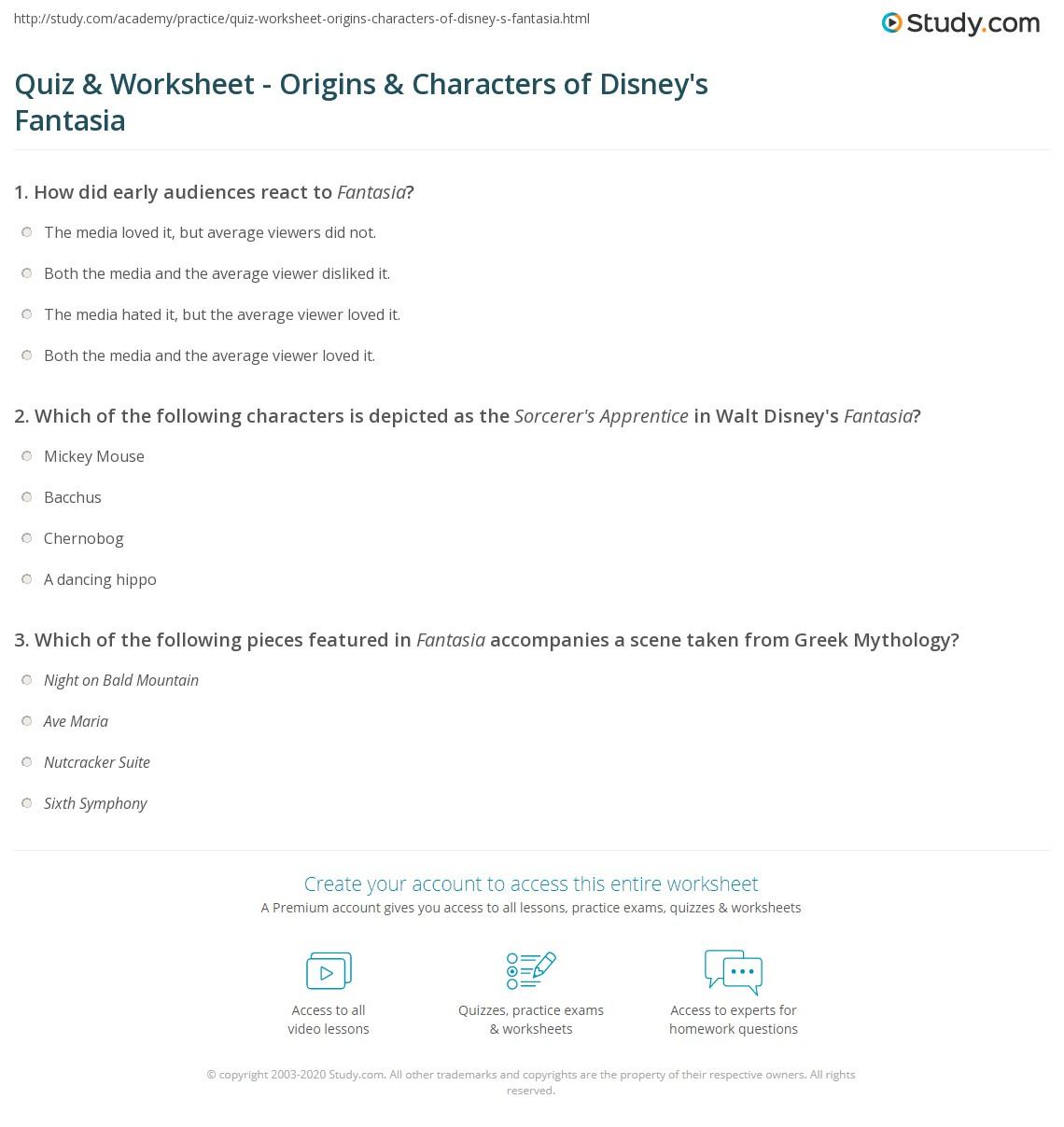 Worksheets Dads Worksheet disney worksheets super teacher print s fantasia 1940 history characters worksheet