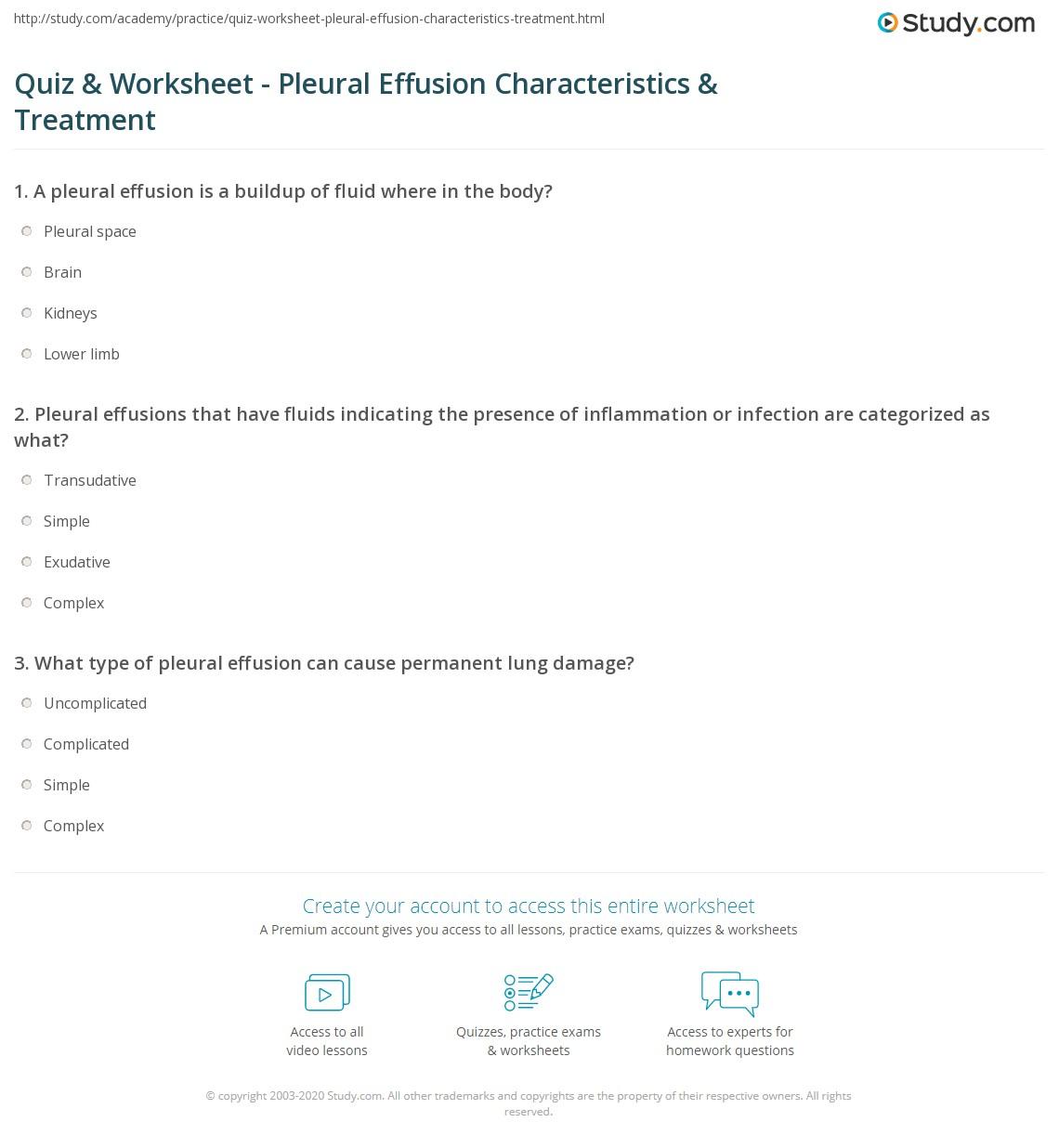 Nice Print What Is Pleural Effusion?   Definition, Causes, Symptoms U0026 Treatment  Worksheet