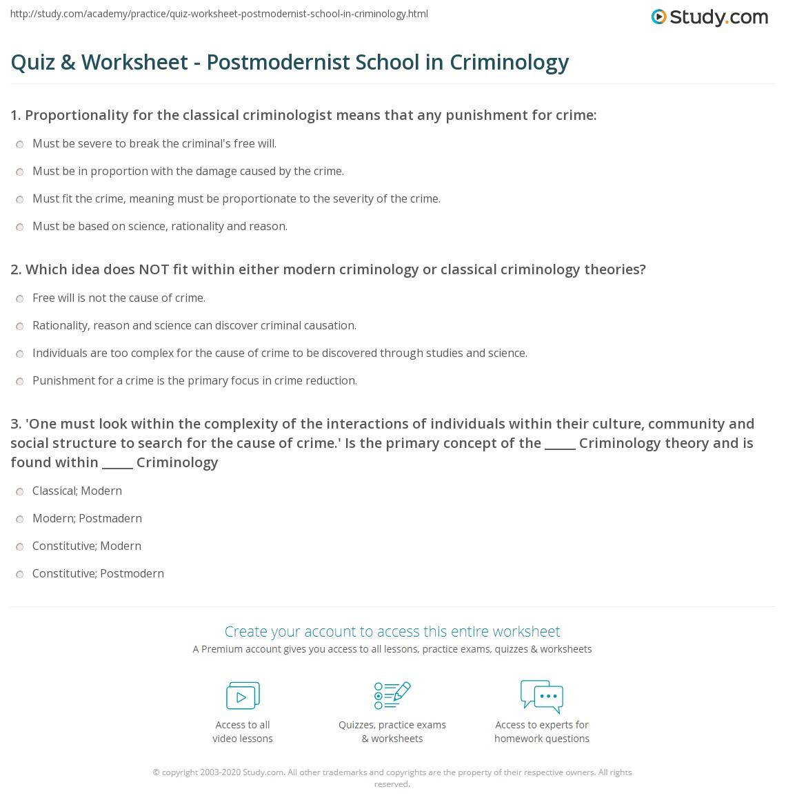 Understanding Criminology Theories - Criminology