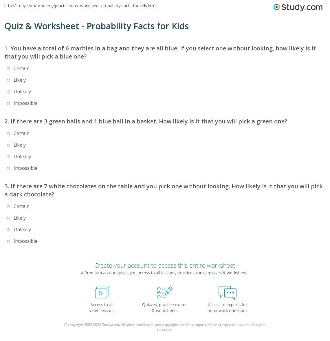 probability worksheet grade 6 pdf