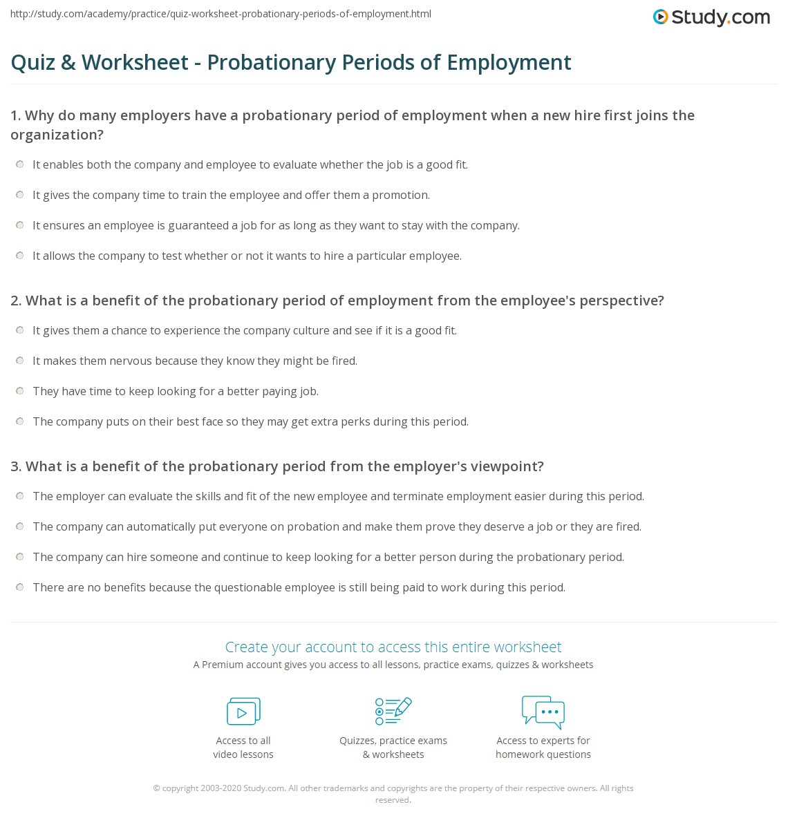 What is the probationary period under the labor code? 35