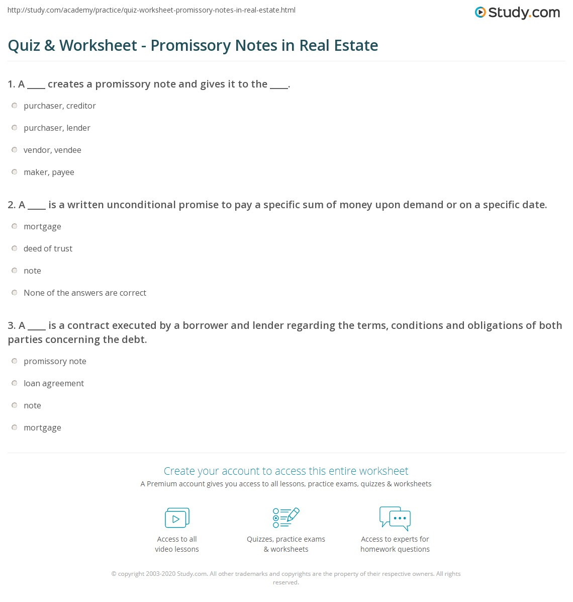 real estate promissory note