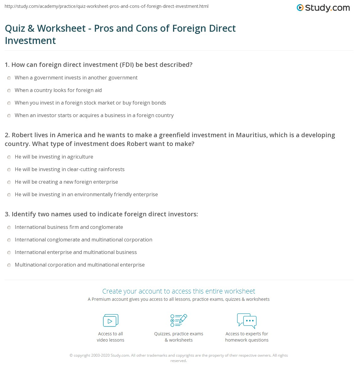greenfield investment advantages and disadvantages