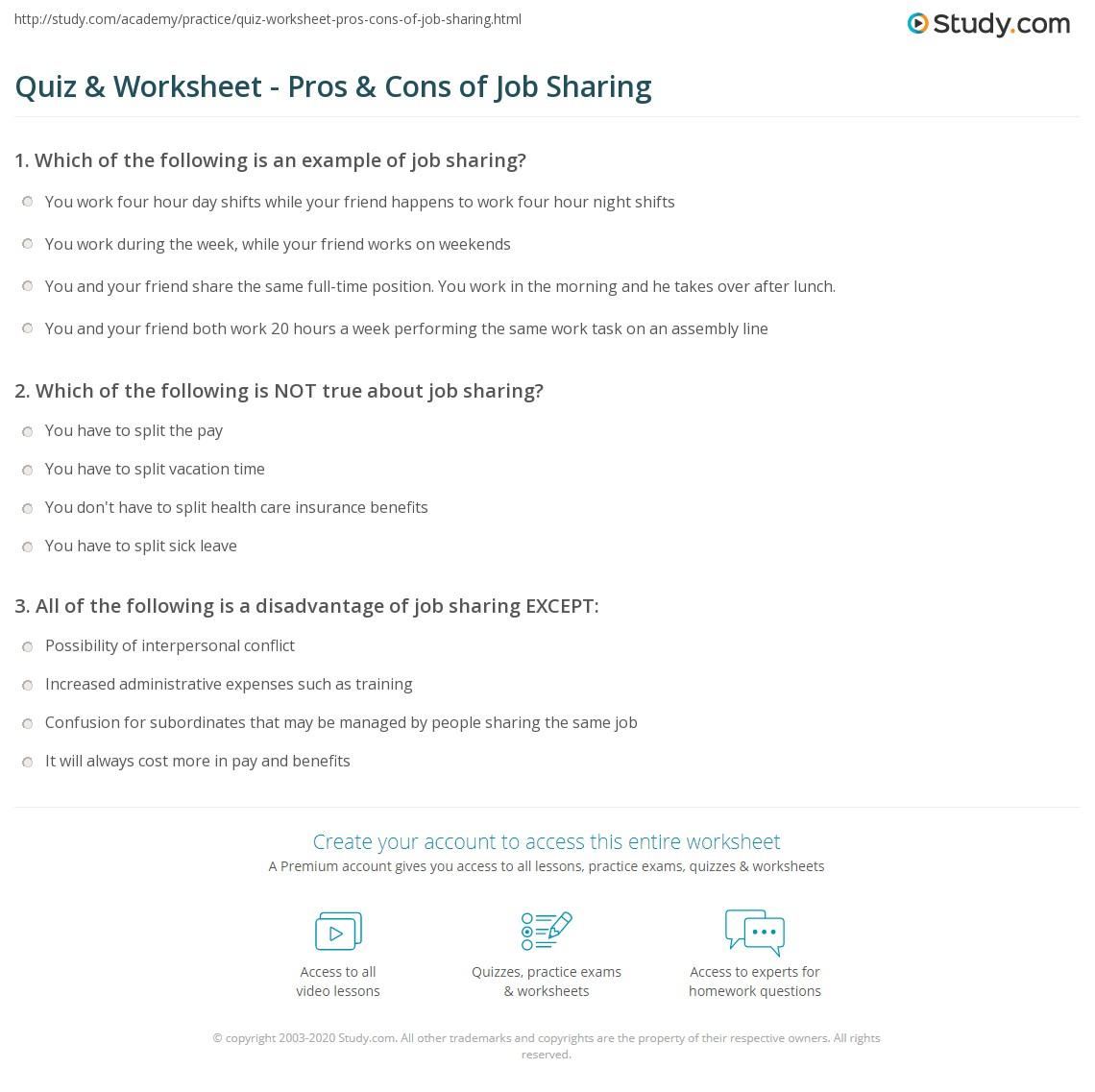 pros cons worksheet