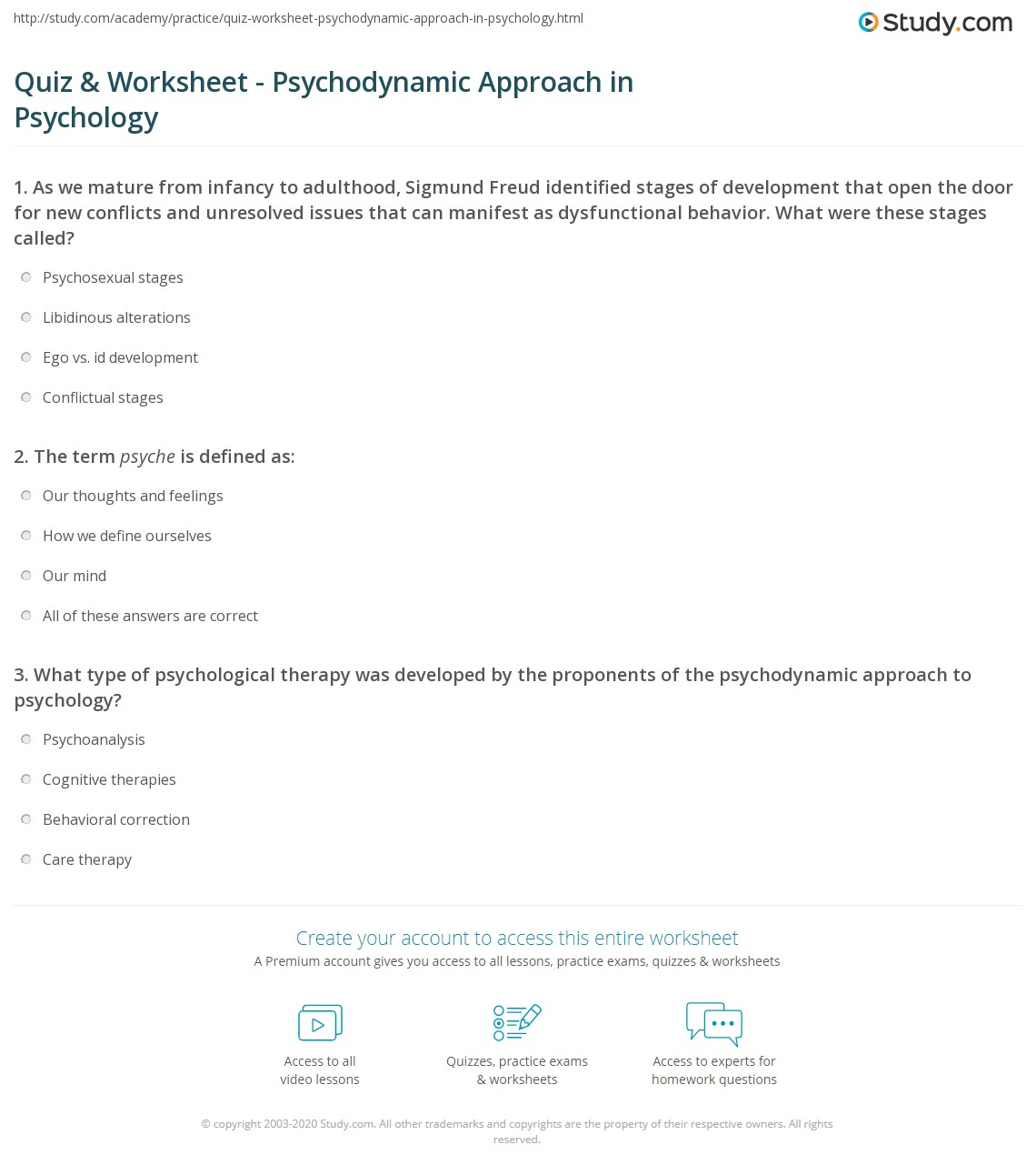 history of psychodynamic approach