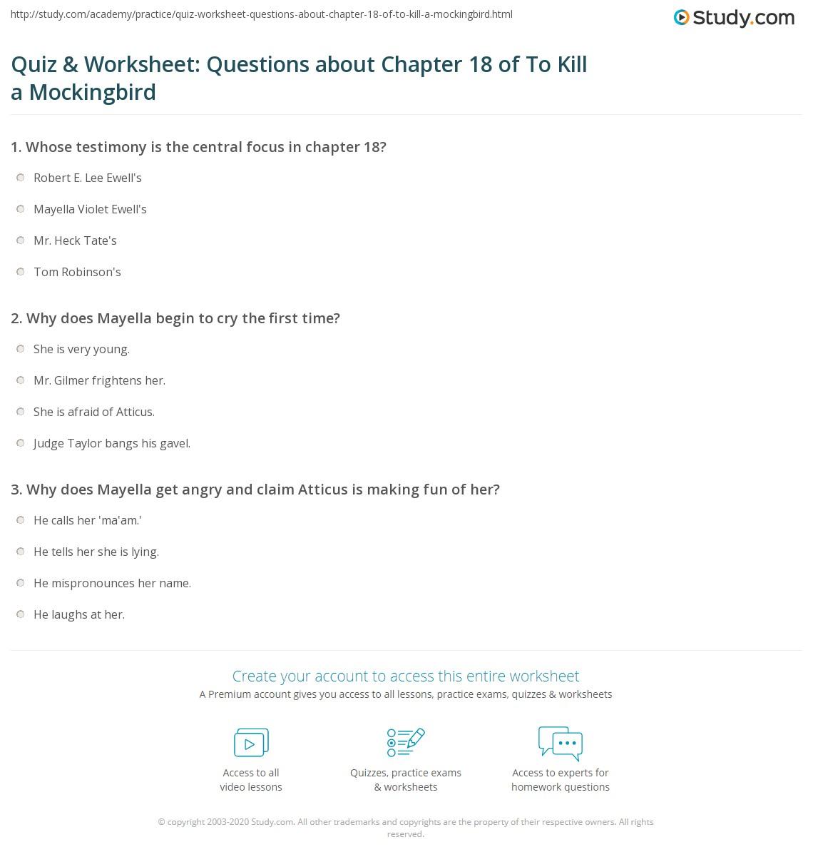 chapter 18 and 19 to kill a mockingbird