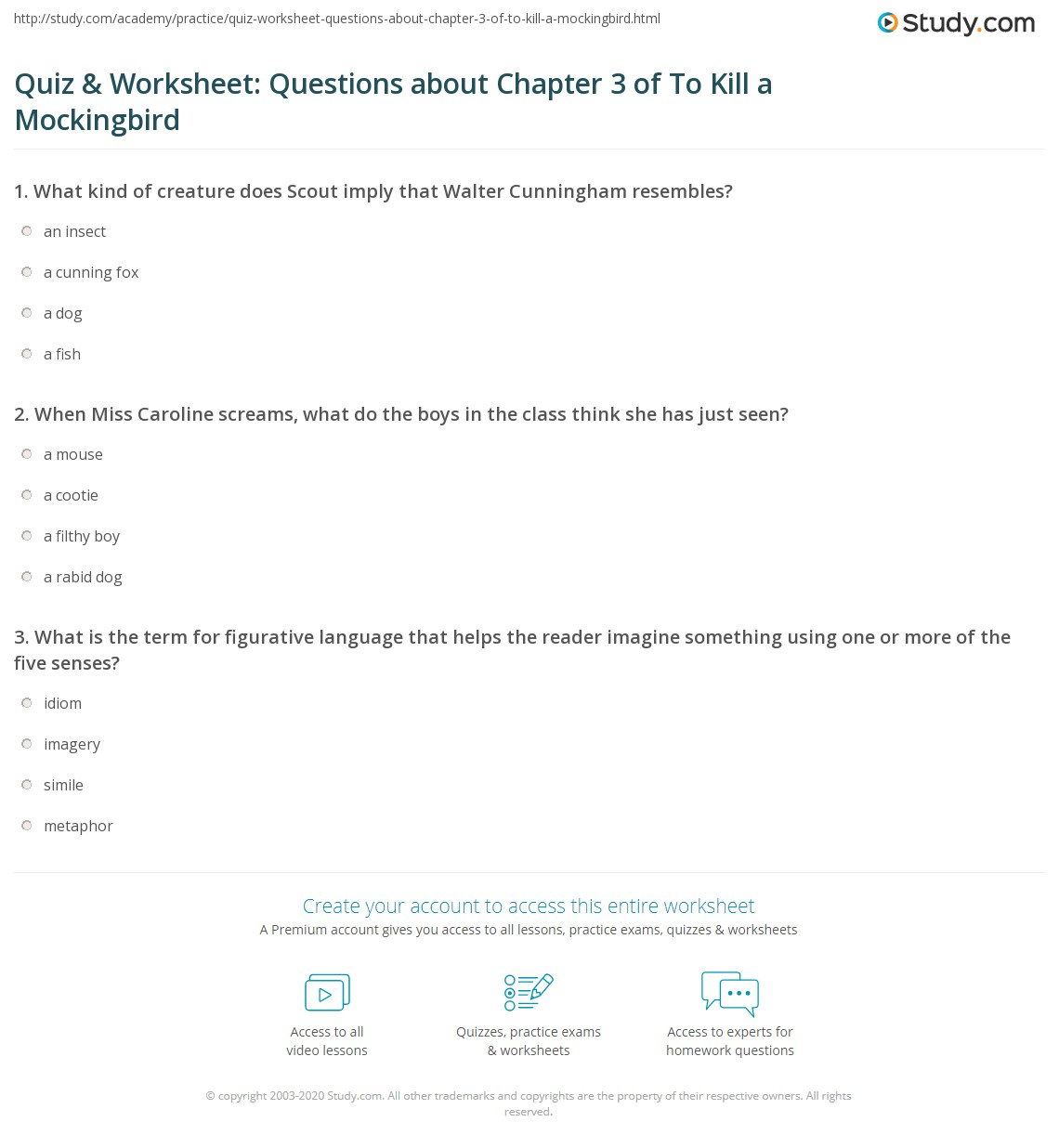 worksheet Boy Scout Worksheets quiz worksheet questions about chapter 3 of to kill a mockingbird print summary worksheet