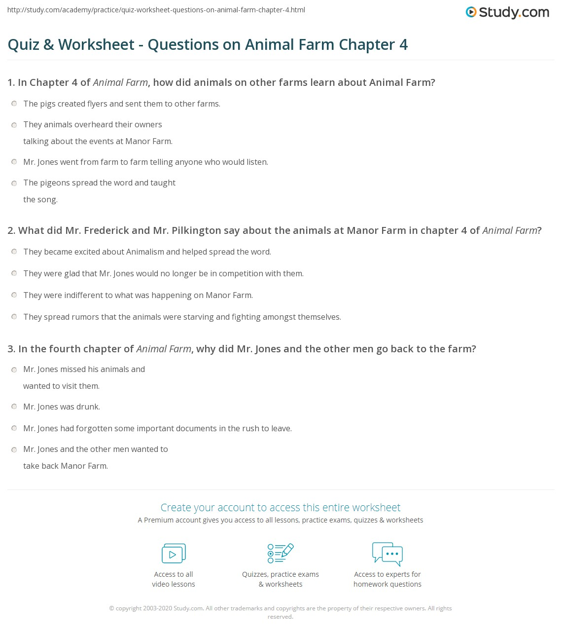 questions and answers for chapter 4