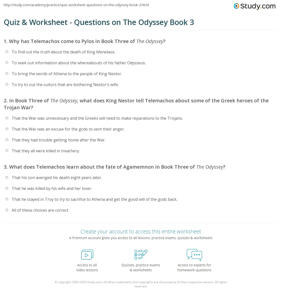 what are some discussion questions for the odyssey definition of critical review of the literature