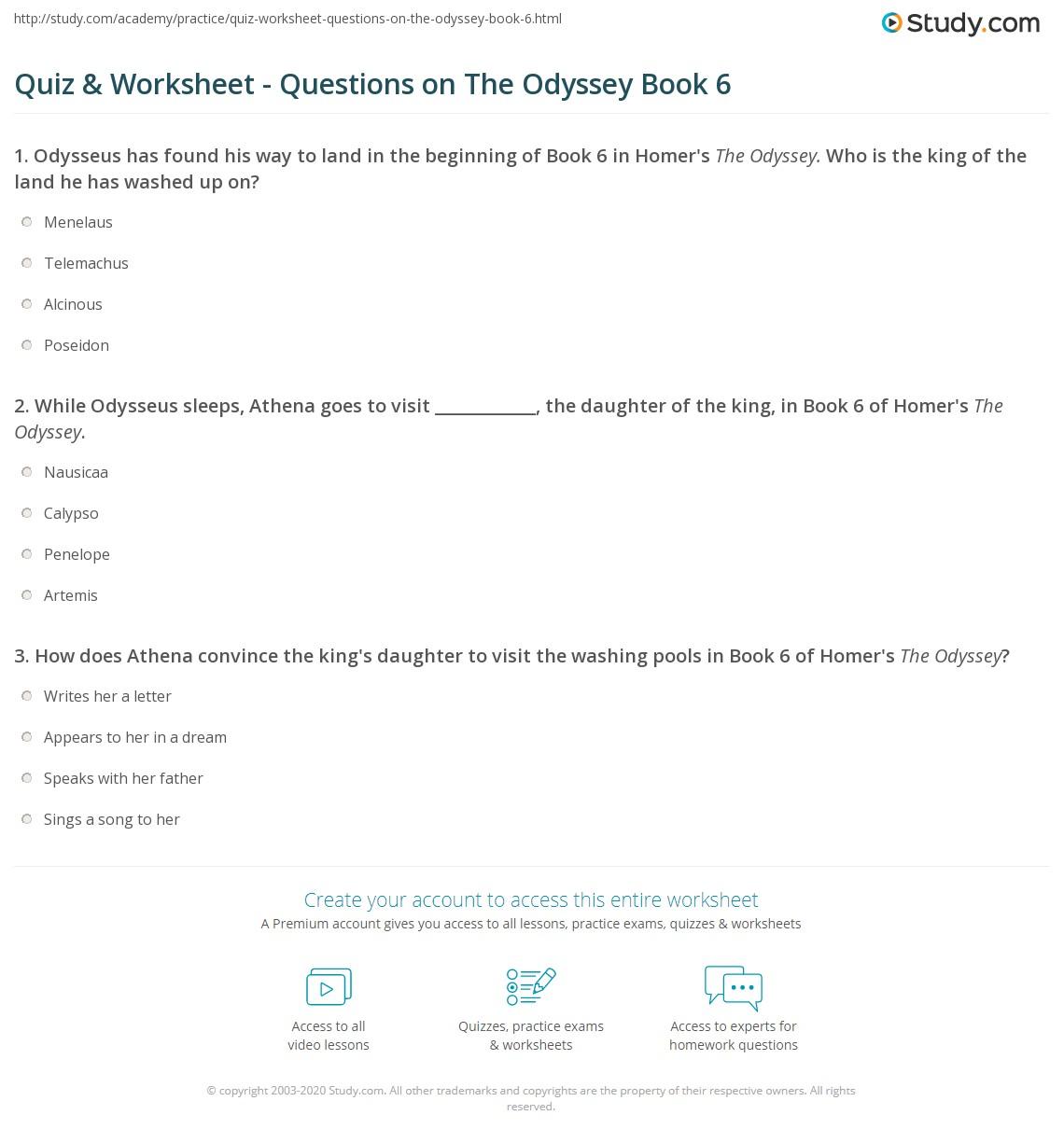 Odyssey summary book 2
