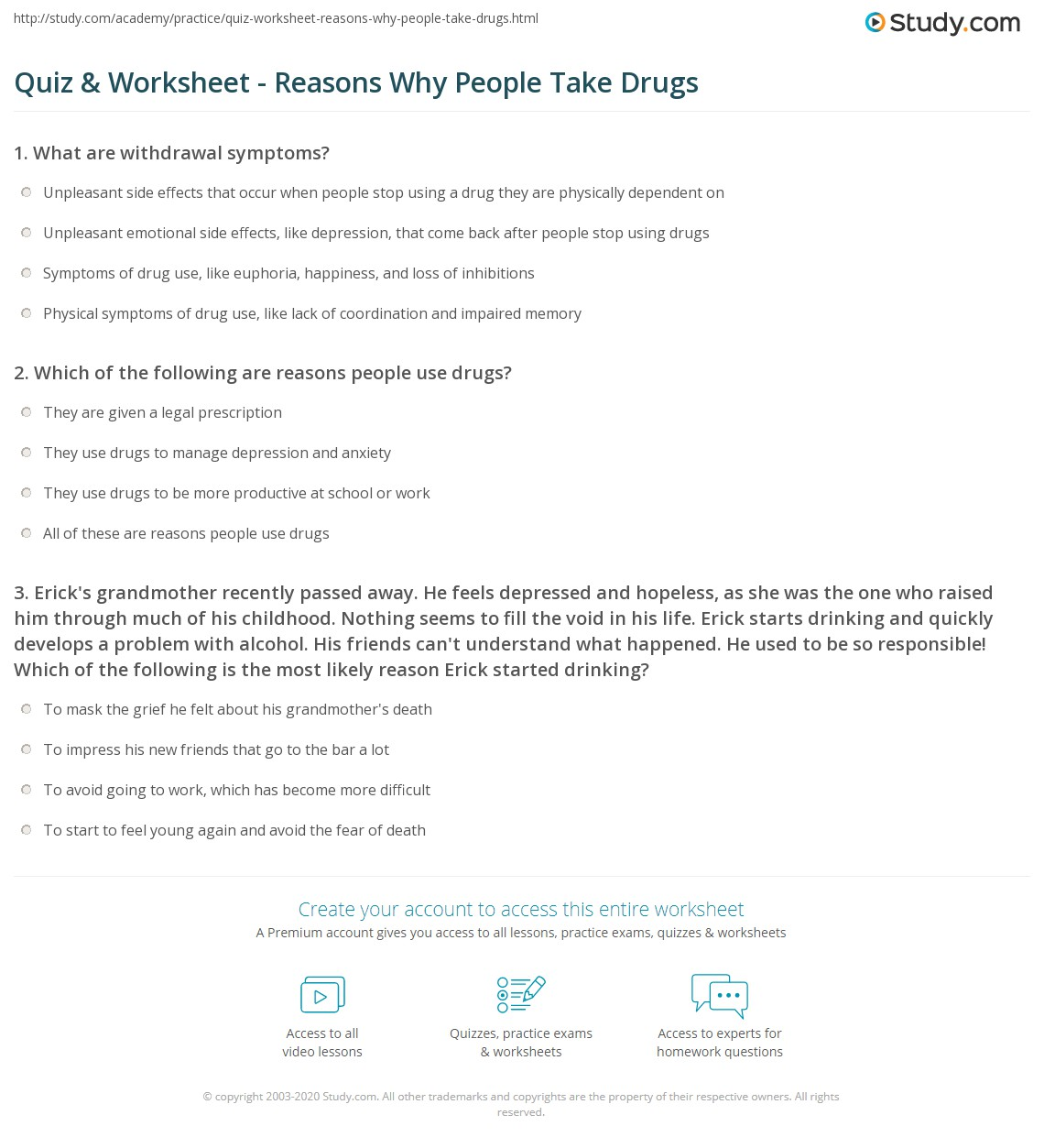 the many reasons why people use drugs 5 reasons why teens should not drink and real reasons why they or vandalism because of the people they spend time with drugs cause teens to.