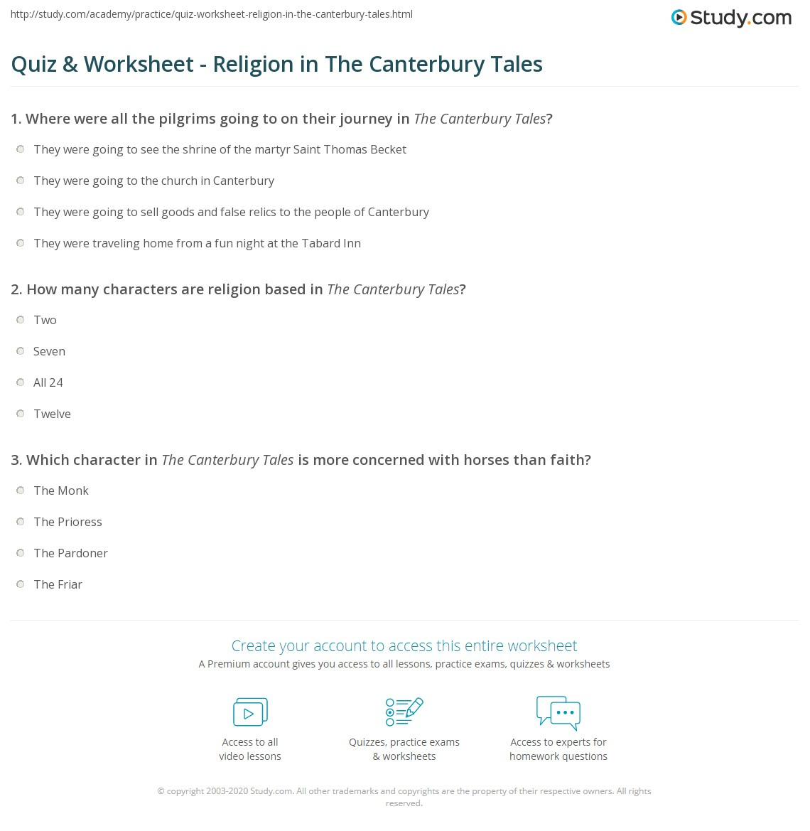 religious characters in canterbury tales