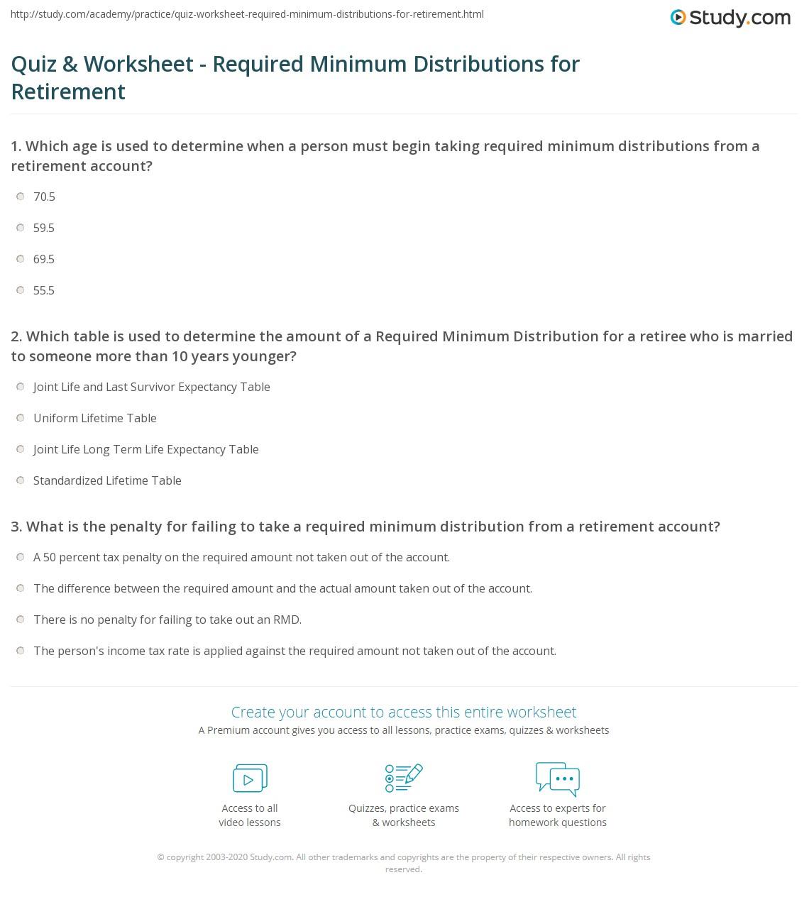 Printables Ira Worksheet required minimum distribution worksheet davezan ira rmd davezan