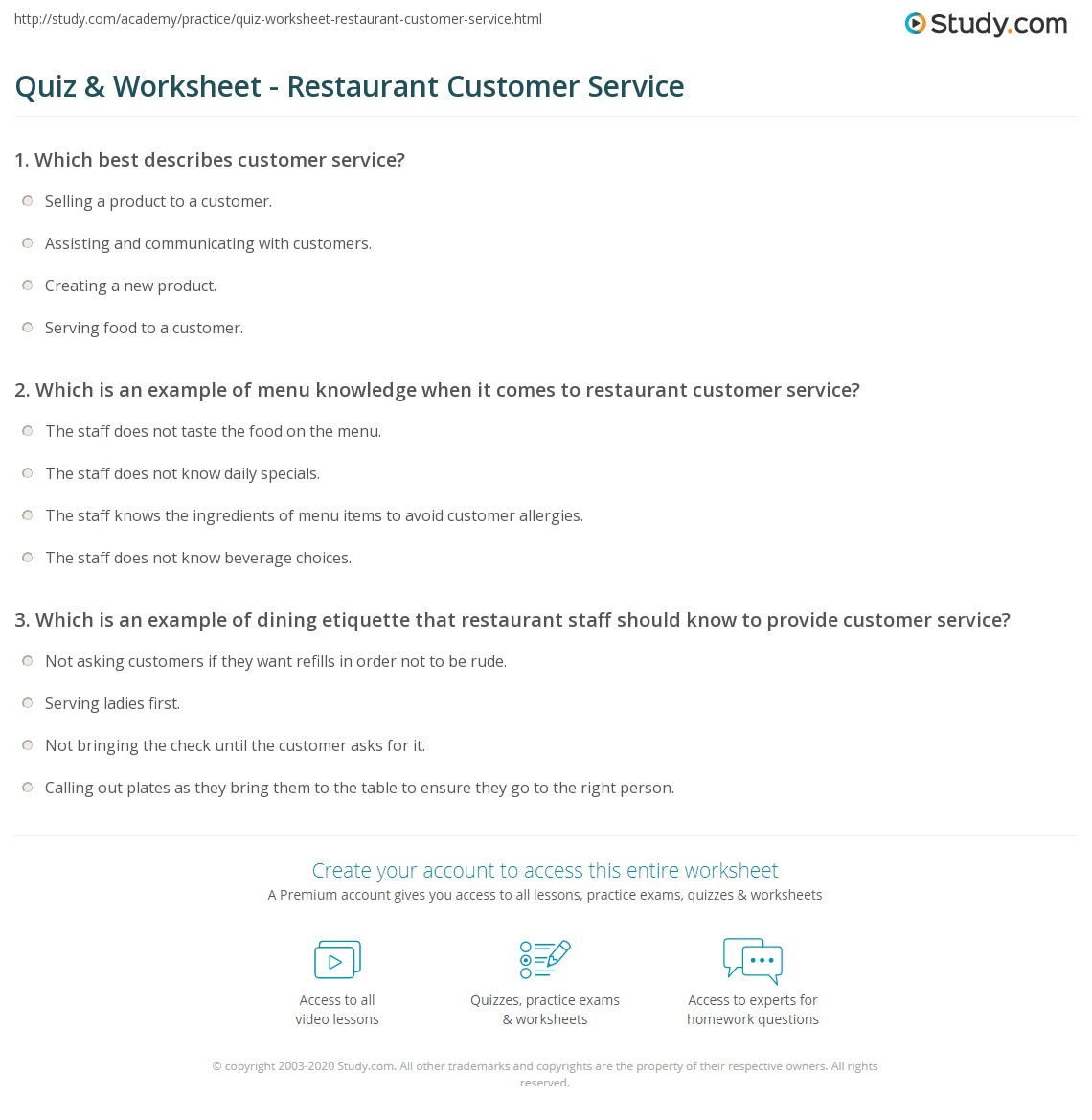 Image Of Food And Beverage Service Quiz Questions And Answers Fb ...