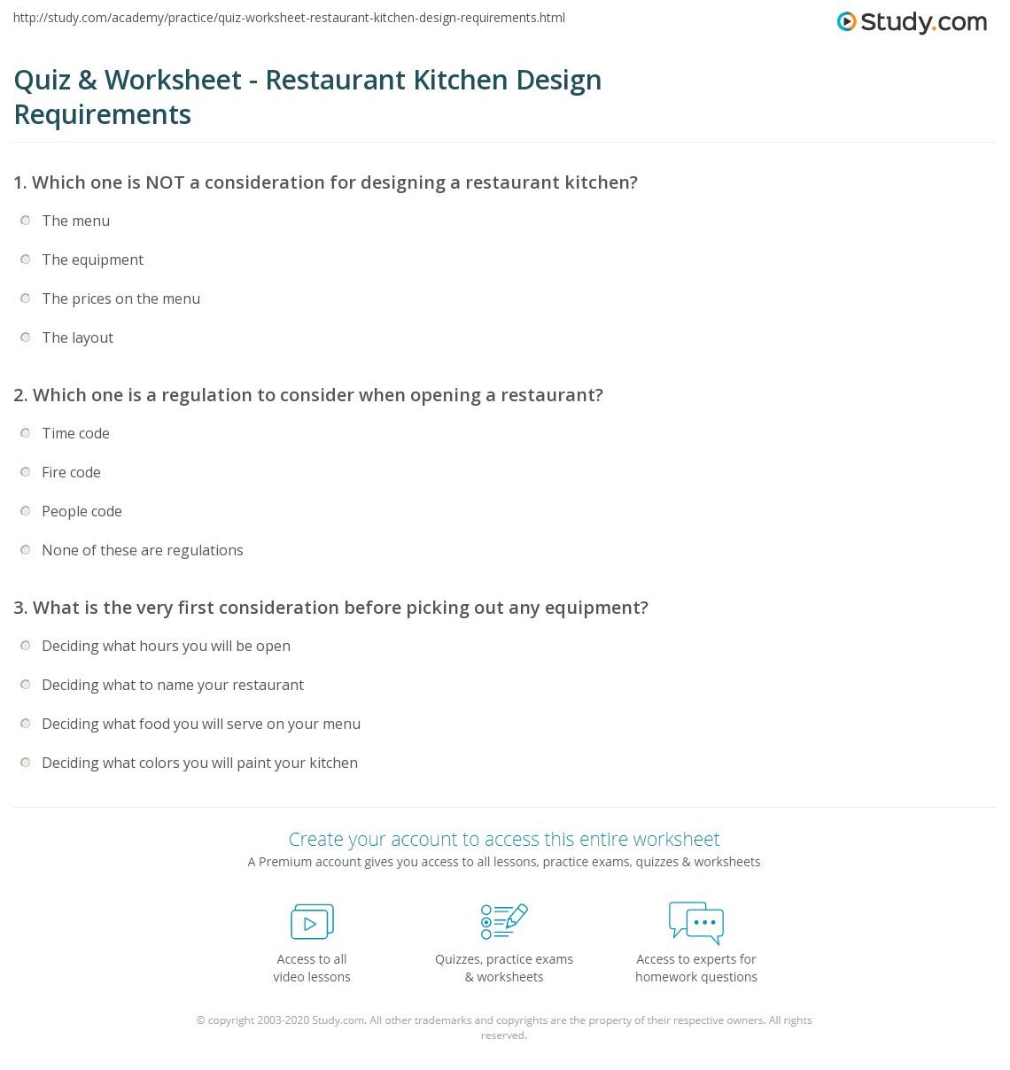 Restaurant Kitchen Design Requirements
