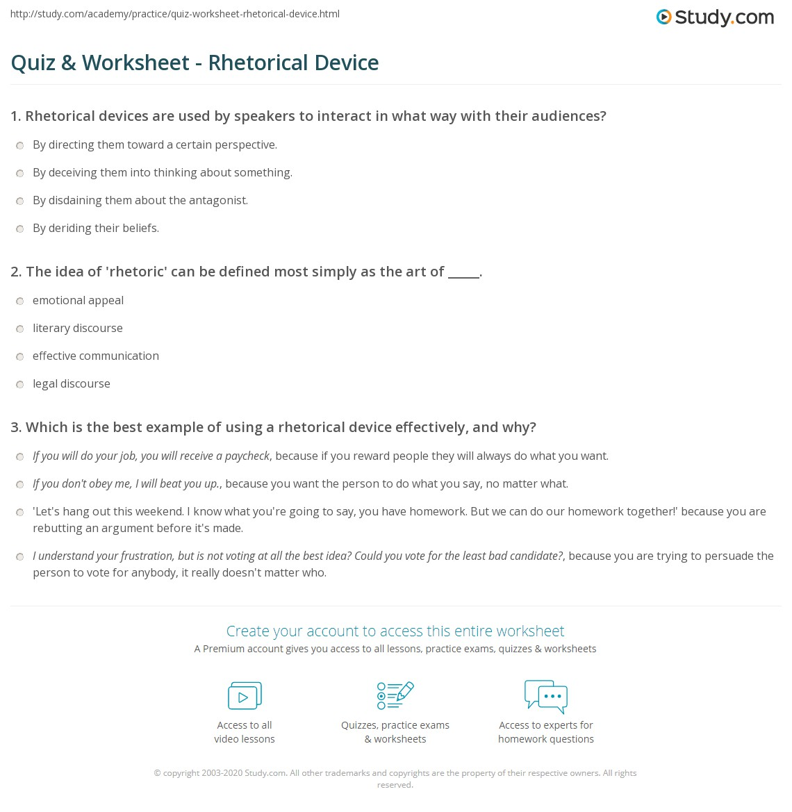 rhetorical device quiz 5 practice essay Writing ap english essay guide 5 devbrands education everyone rhetorical devices rhetorical techniques style total workout build your test-taking confidence chapter 11 practice with sample ap english language exam essays.