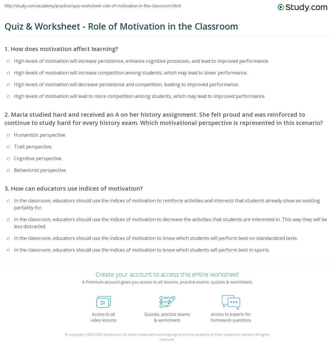 motivation in the classroom Free essay: the importance of motivation in the classroom it is first important to understand how motivation works in the classroom there are infinite.
