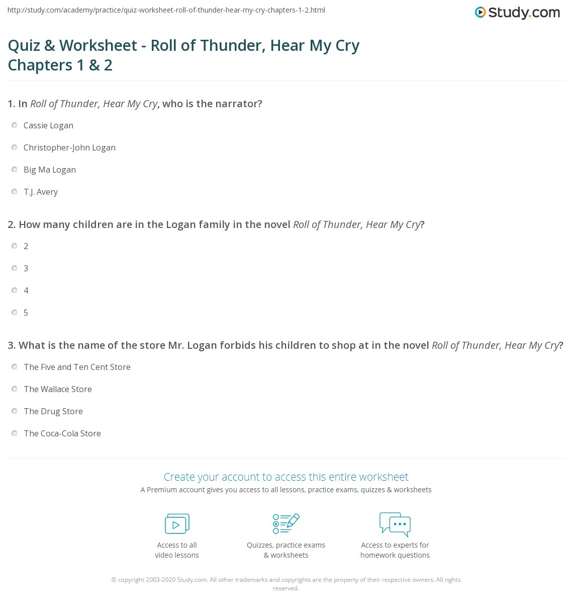 essay questions on roll of thunder