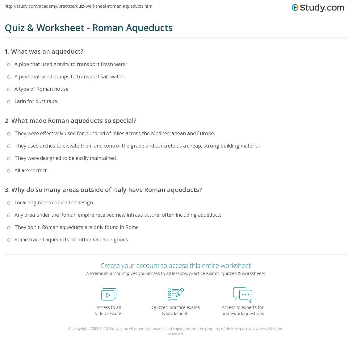 worksheet Roman Empire Worksheets quiz worksheet roman aqueducts study com print the aqueduct definition facts worksheet