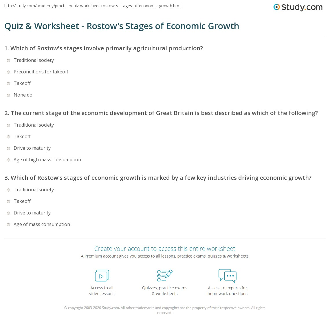critical analysis of rostows stages of growth He based his predictions on a sweeping analysis of the  rostow's five stages of  the linear stages of growth model is something .