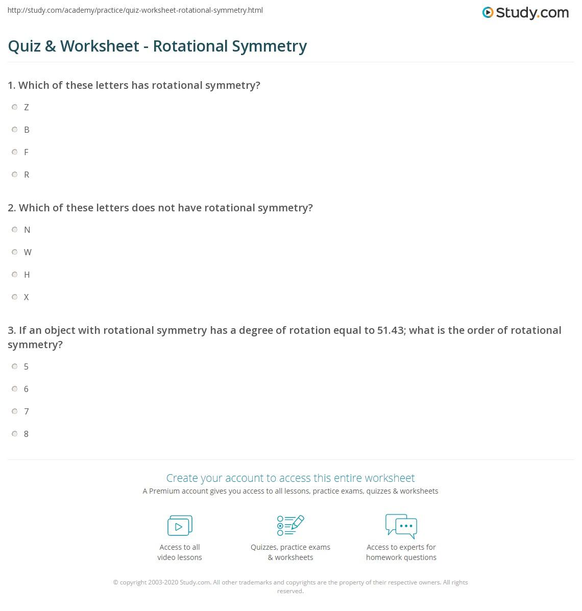 math worksheet : maths rotational symmetry worksheets  quiz worksheet rotational  : Maths Symmetry Worksheets