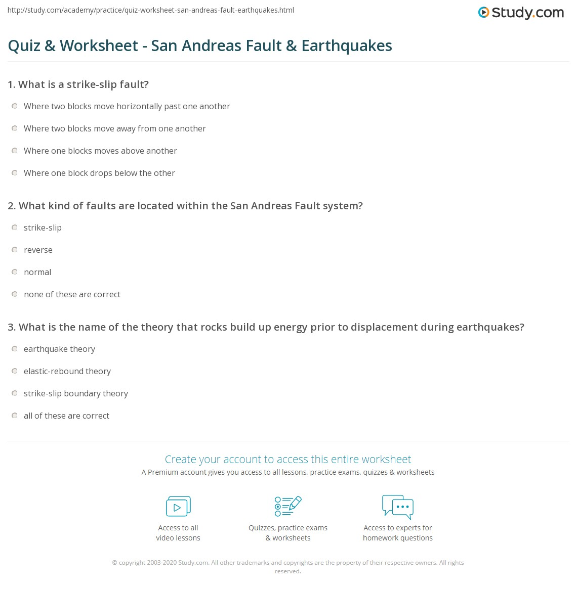 Free earthquake worksheets pdf
