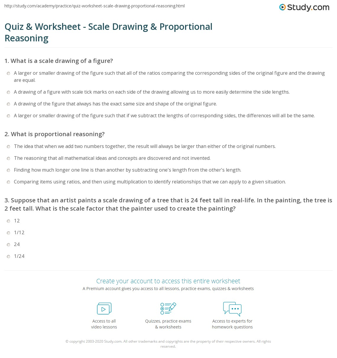 quiz worksheet scale drawing proportional reasoning. Black Bedroom Furniture Sets. Home Design Ideas