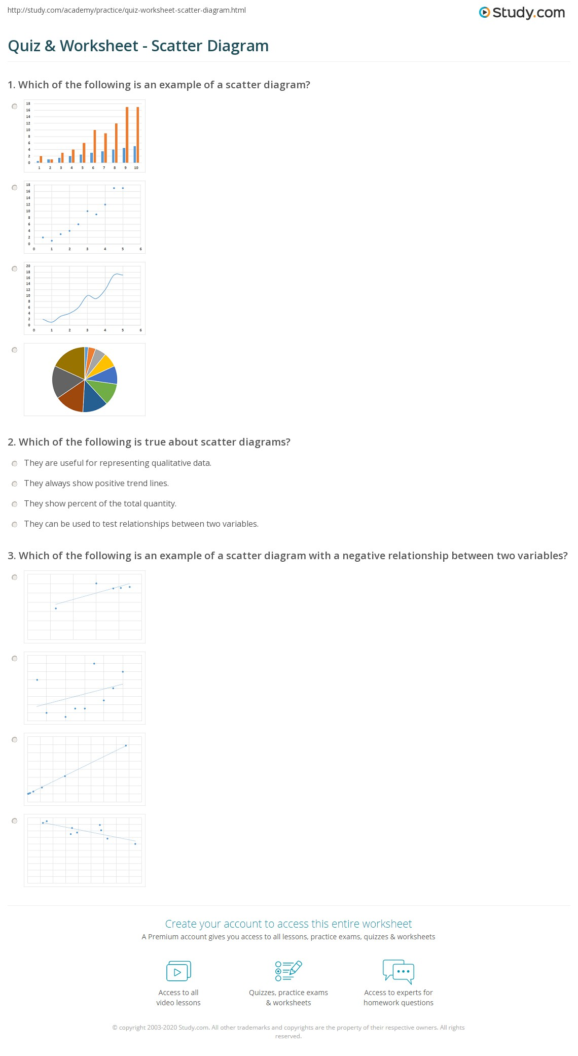 Quiz worksheet scatter diagram study print scatter diagram definition examples worksheet ccuart Gallery