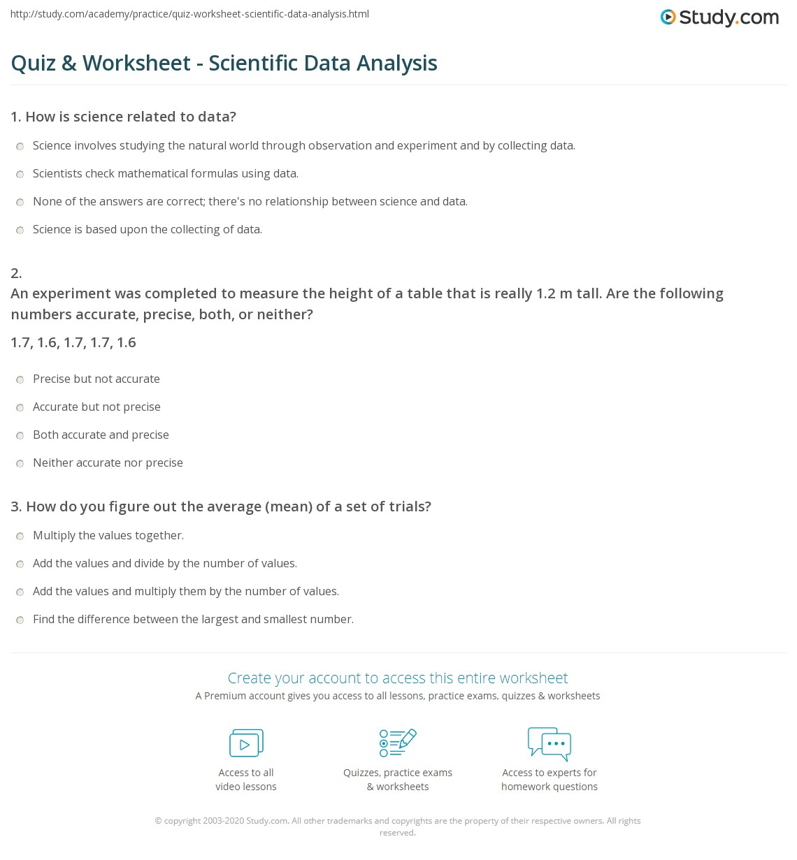 33 Data Analysis Worksheet Answers Worksheet Resource Plans
