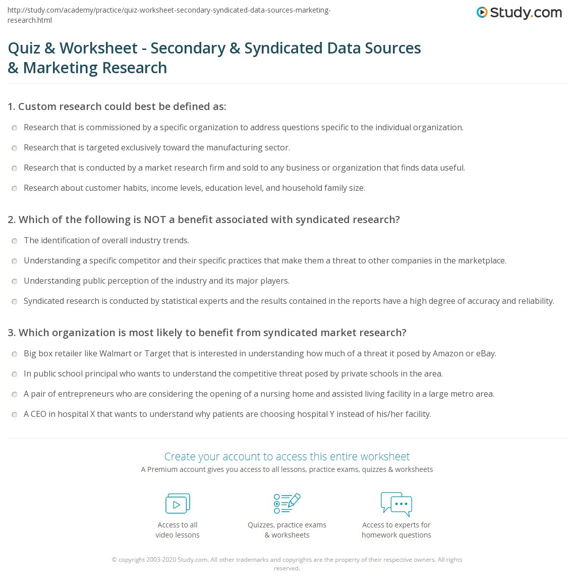 secondary data sources for market research