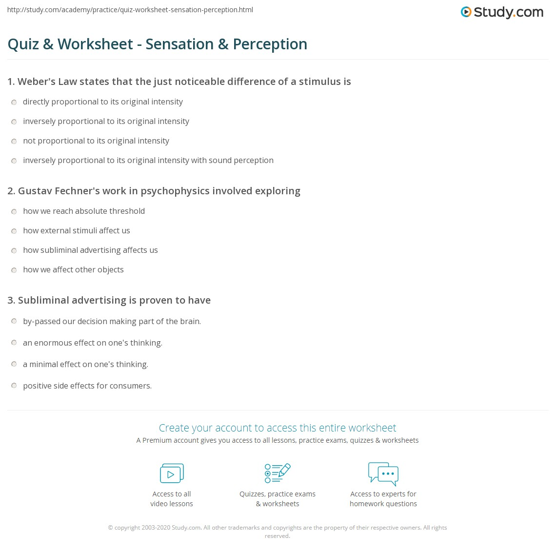 guided reading activity 8-1 sensation answer key