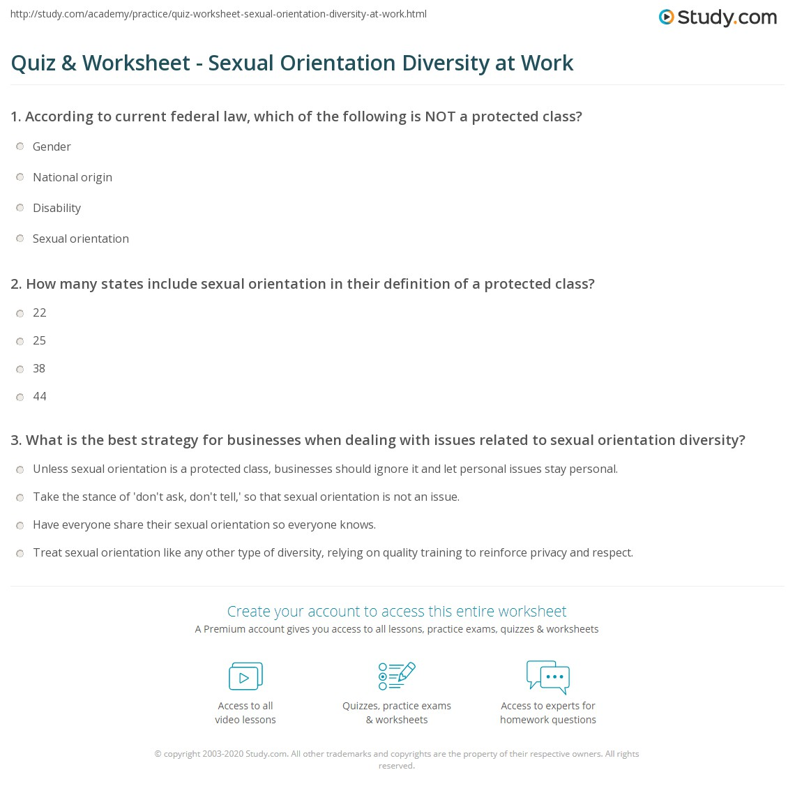 Sexual orientation diversity definition business