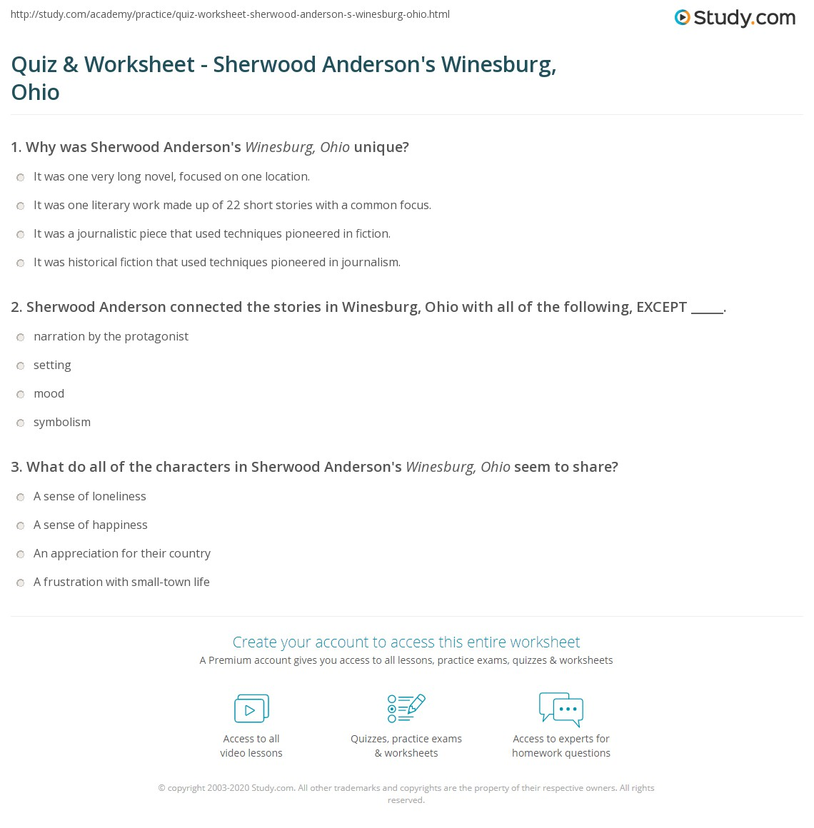 an analysis of the figures of winesburg ohio Get an answer for 'what is the main theme of sherwood anderson's book winesburg, ohio' and find homework help for other winesburg, ohio questions at enotes.