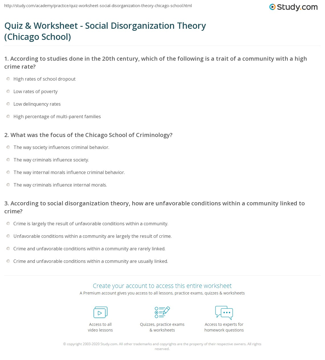 social disorganization theory essay Interested in the effects of social disorganization theory within a community essay bookmark it to view later bookmark the effects of social disorganization theory within a community essay.