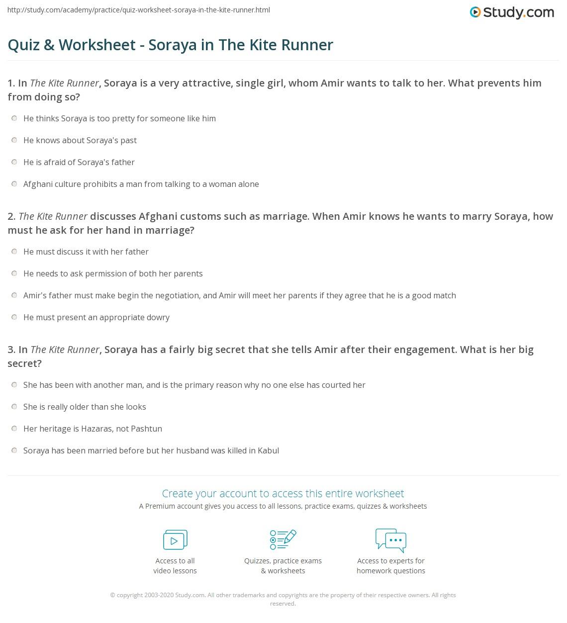 kite runner what does soraya agree to do kite aquatechnics biz quiz worksheet soraya in the kite runner study com