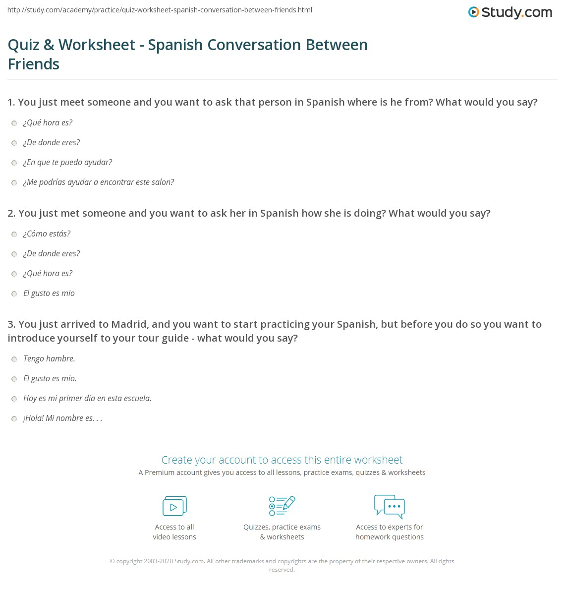 How do I say I met someone in Spanish?