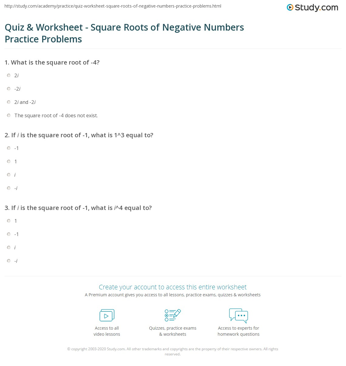 worksheet Square Roots And Cube Roots Worksheet quiz worksheet square roots of negative numbers practice print taking the root 4 worksheet