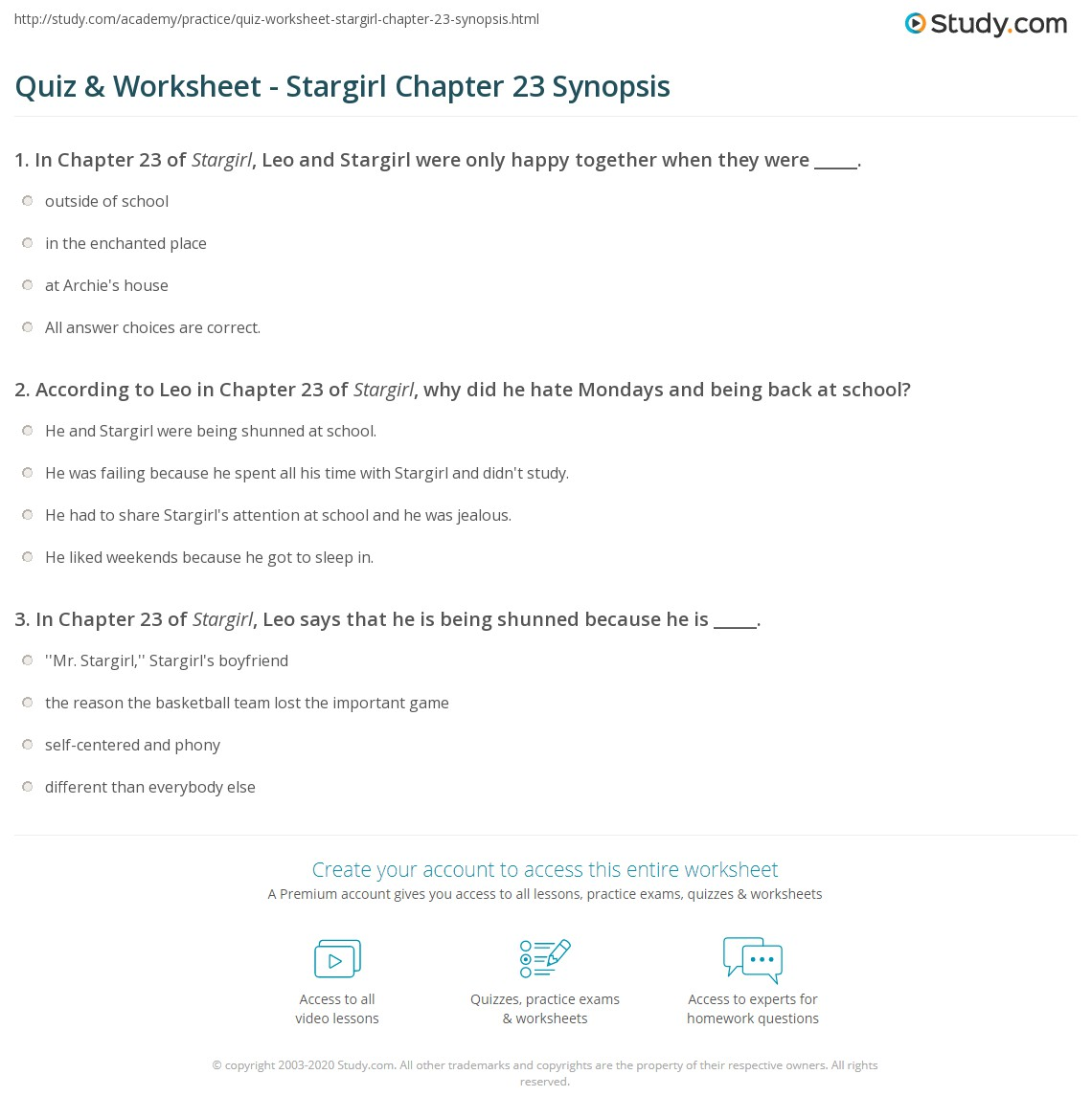 quiz worksheet stargirl chapter 23 synopsis study com rh study com Great Expectations Study Guide Questions Great Expectations Study Guide Questions