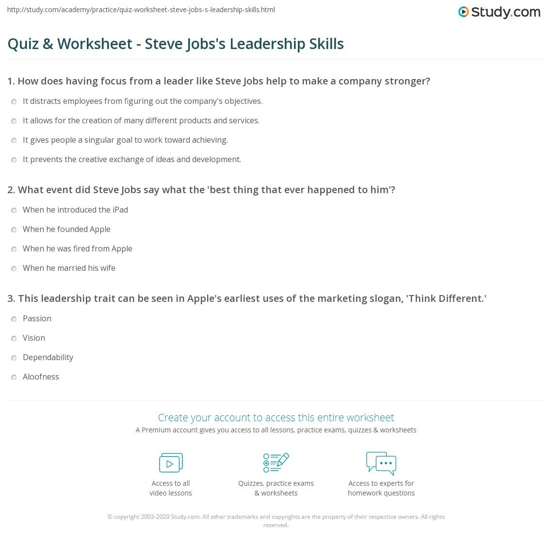 qualities of steve jobs as a leader