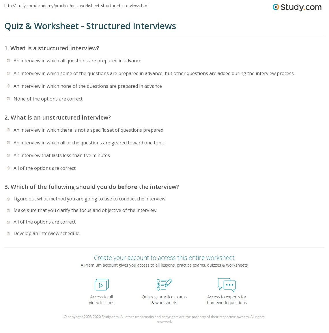 Print Structured Interview: Definition, Process U0026 Example Worksheet