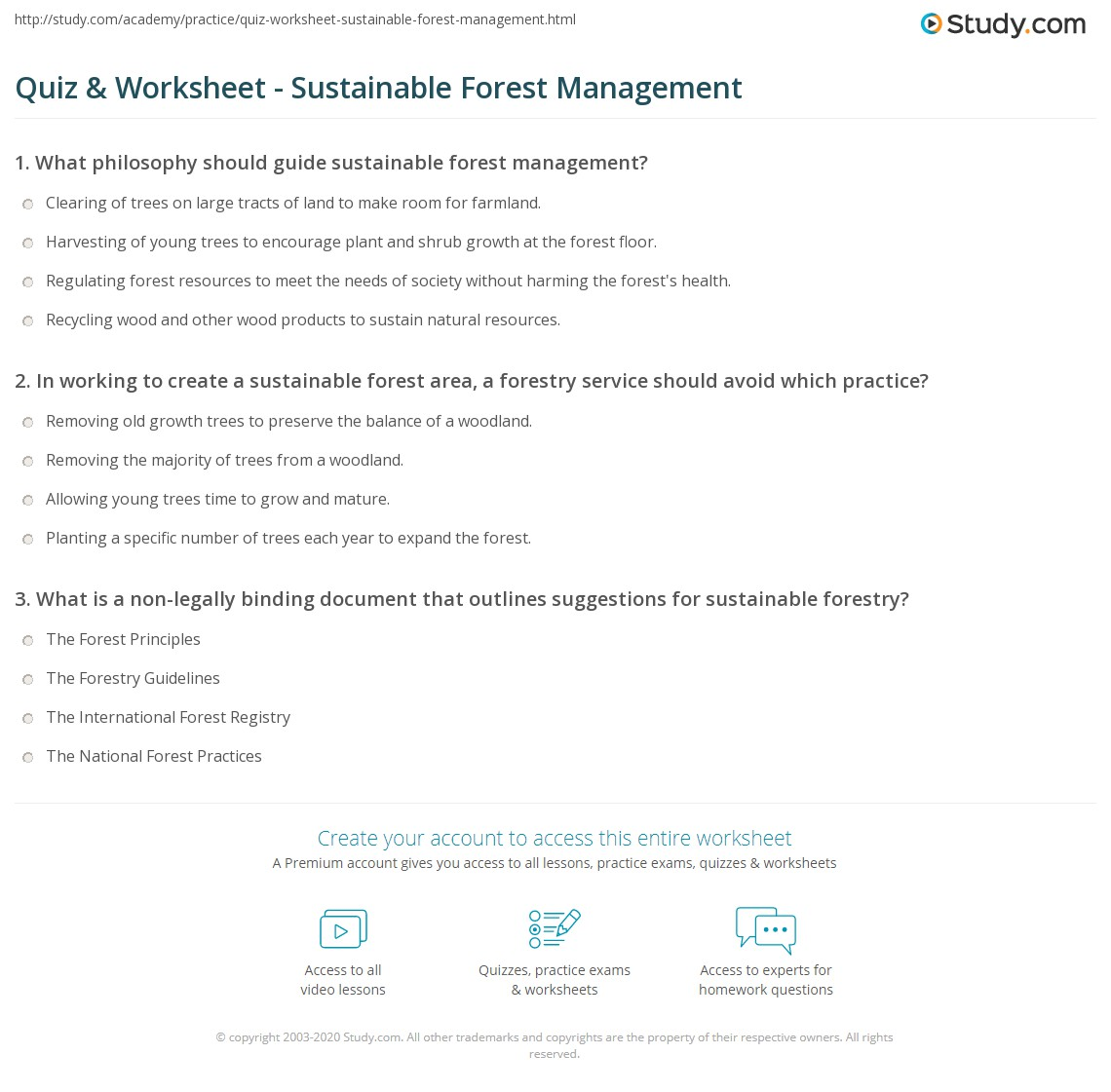 Print What Is Sustainable Forest Management? - Definition and Examples  Worksheet