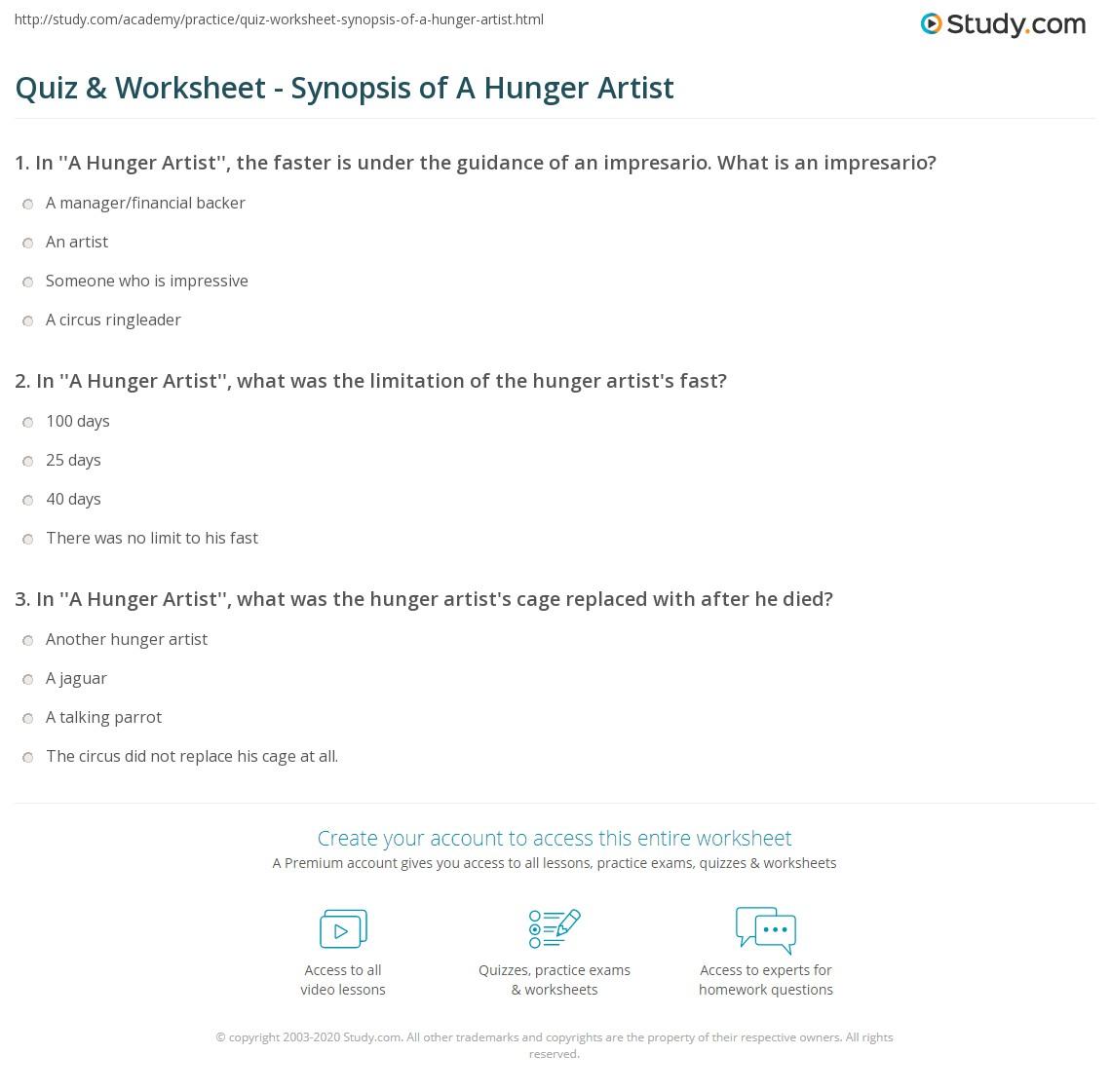 kafka hunger artist